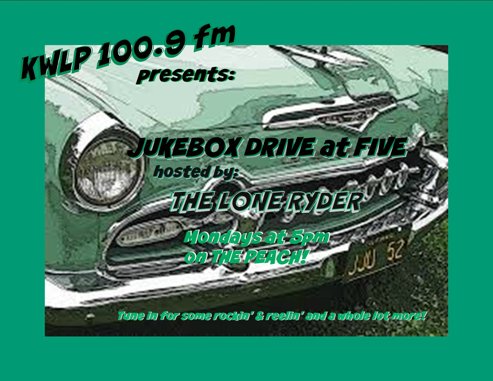 jukebox Drive at Five Promo Flyer